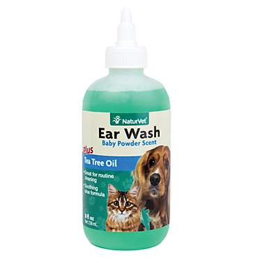 NaturVet Ear Wash with Tea Tree Oil for Pets