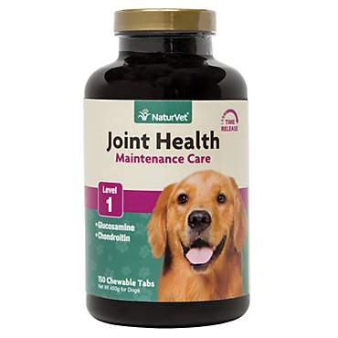NaturVet Joint Health Time Release Level 1-Maximum Hip & Joint Supplement for Dogs