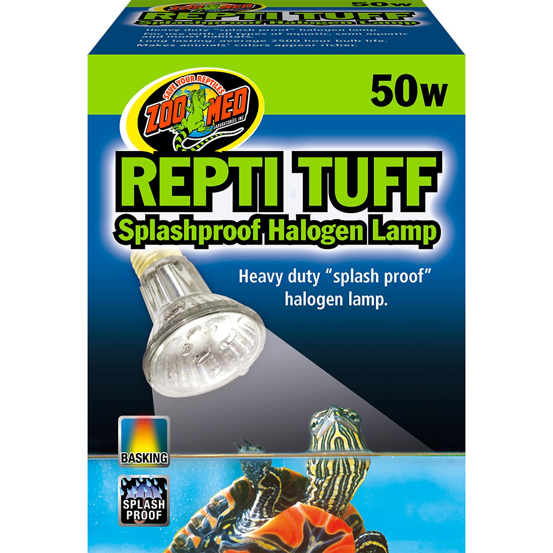 Zoo Med Turtle Tuff Splashproof Halogen Lamp 50 Watts