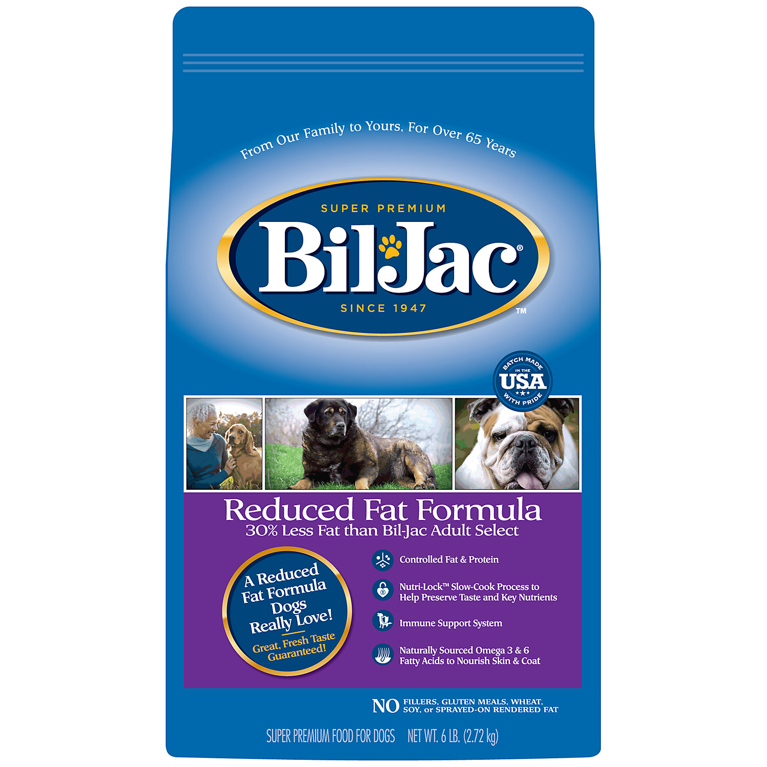 Bil Jac Reduced Fat Adult Dry Dog Food 6 Lbs.