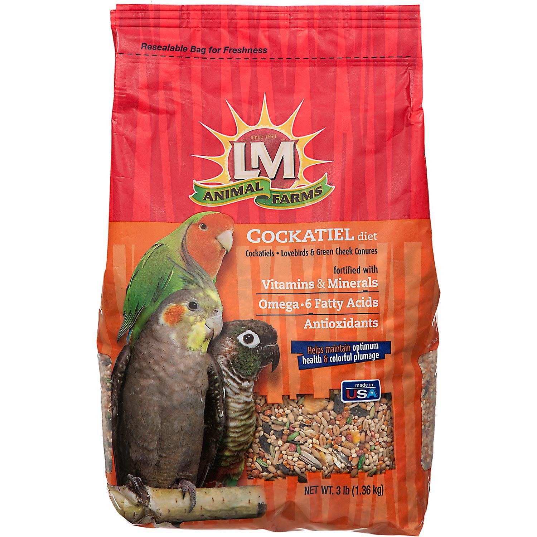 Lm Animal Farms Cockatiel Diet Bird Food 3 Lbs.