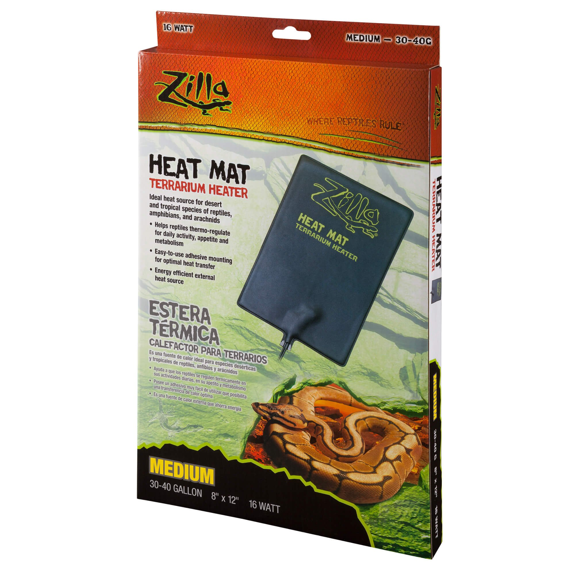 Zilla Under Tank Reptile Heaters, Medium