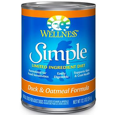 Wellness Simple Natural Limited Ingredient Duck and Oatmeal Recipe Wet Dog Food