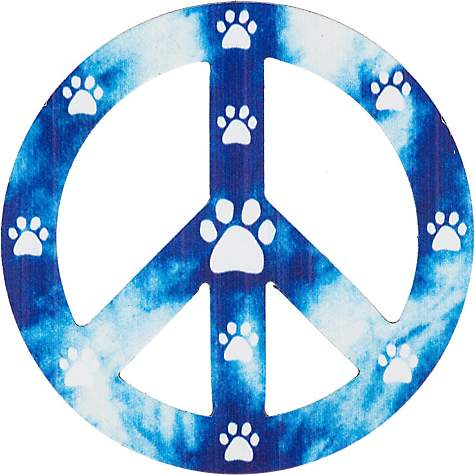 Imagine This Peace Paws Car Magnet