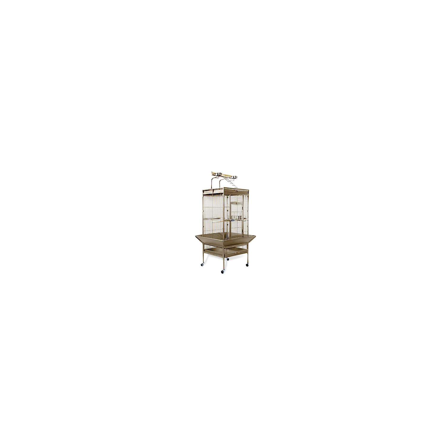 Prevue Hendryx Signature Select Series Wrought Iron Bird Cage In Coco Brown X Large