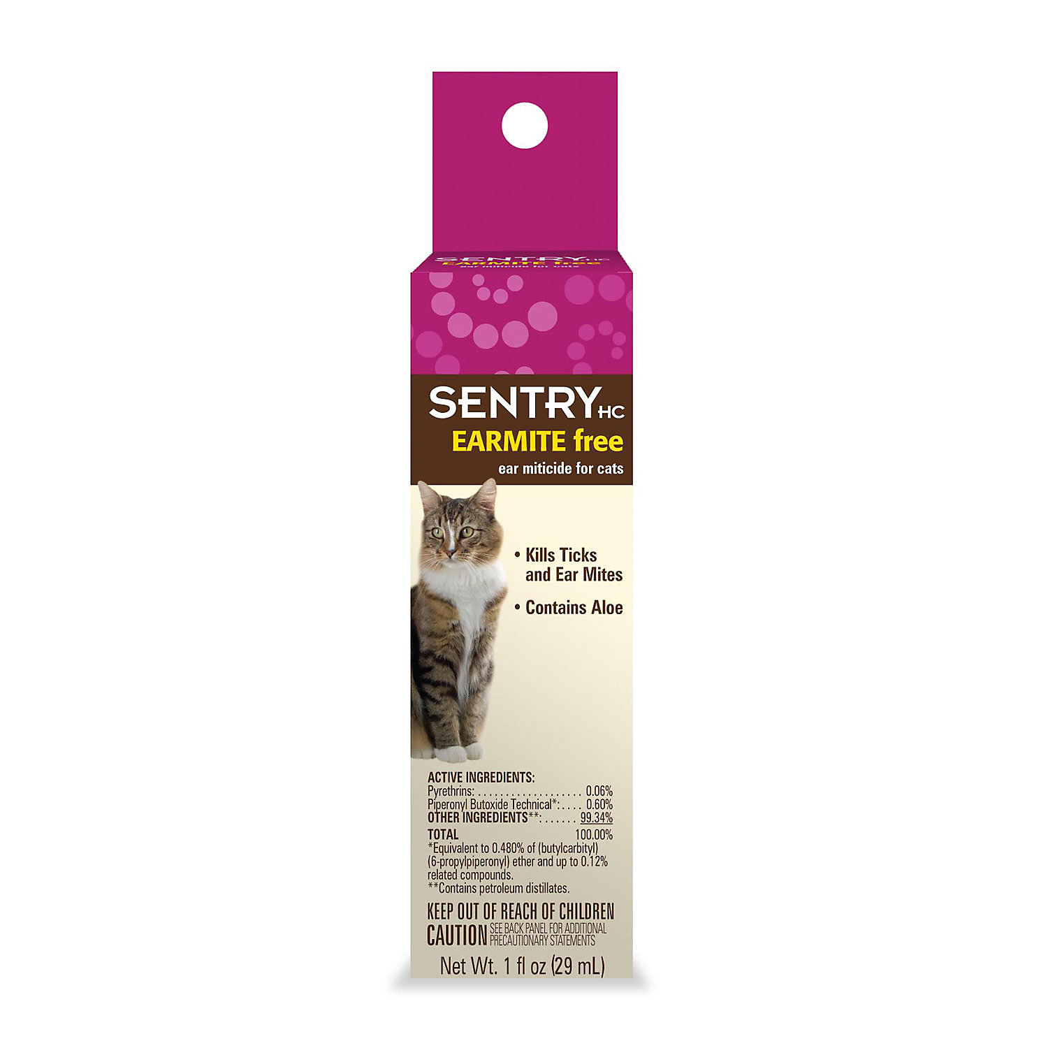 Sentry Earmite Free Ear Miticide For Cats 1 Oz.