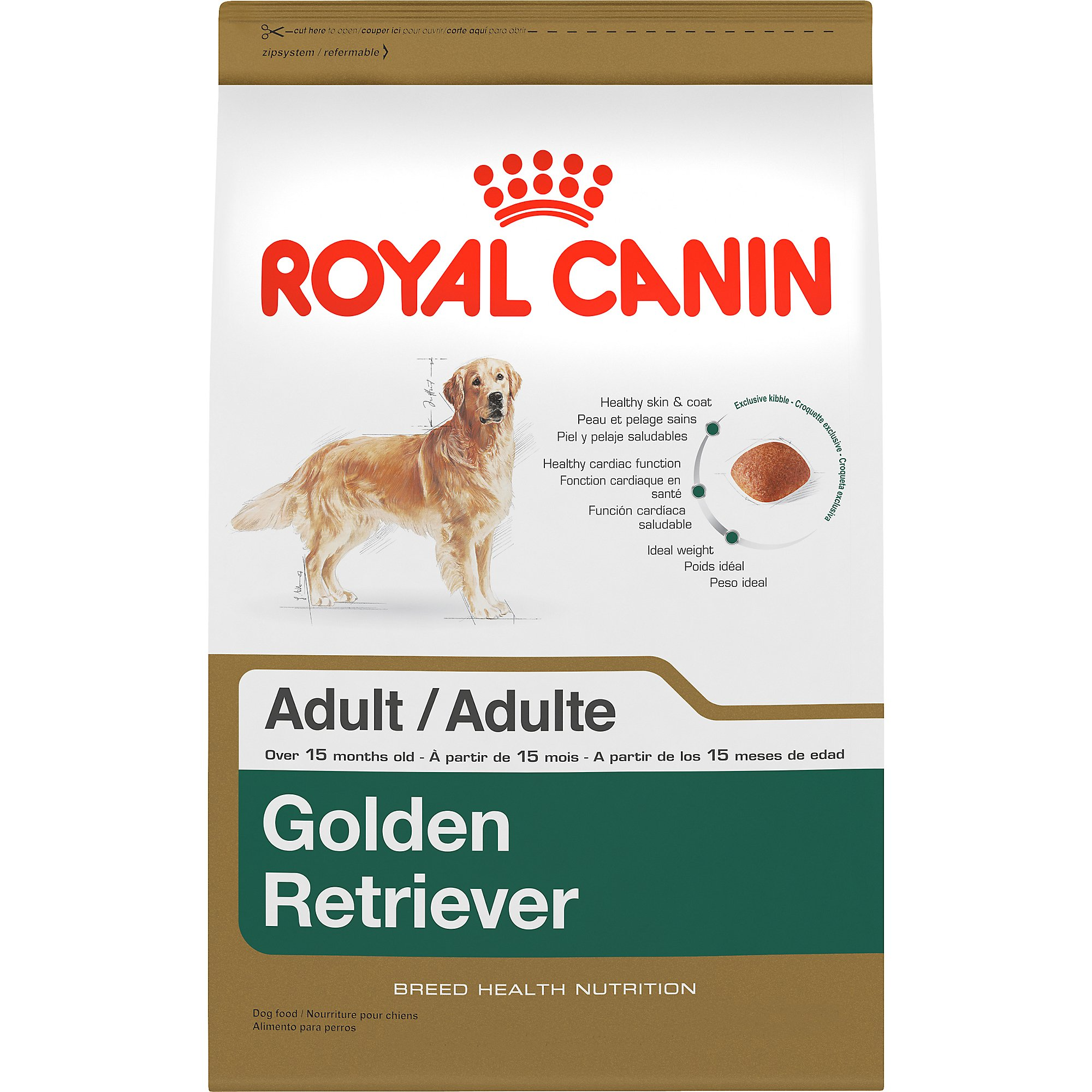 royal canin breed health nutrition golden retriever adult dry dog food petco. Black Bedroom Furniture Sets. Home Design Ideas