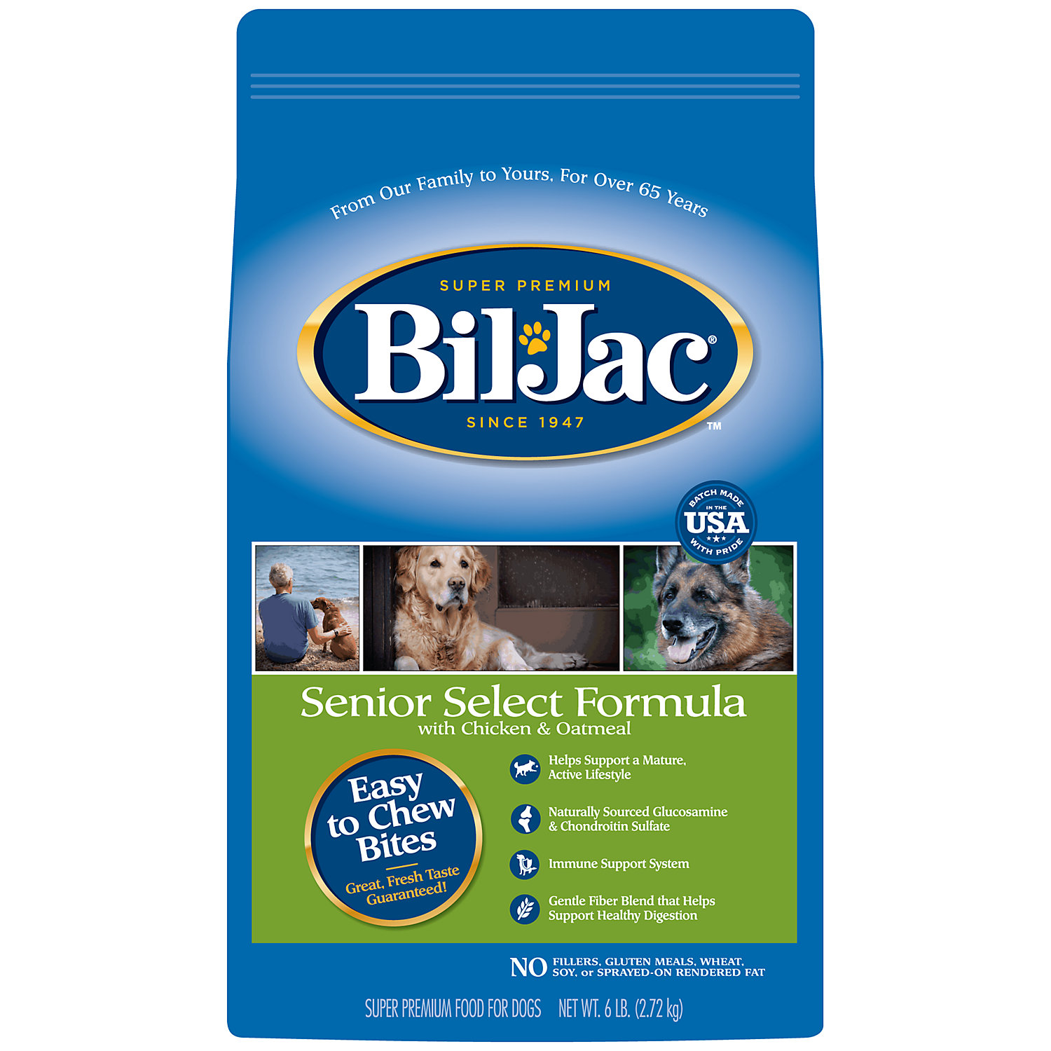 Bil Jac Senior Select Dry Dog Food With Chicken Oatmeal 6 Lbs.