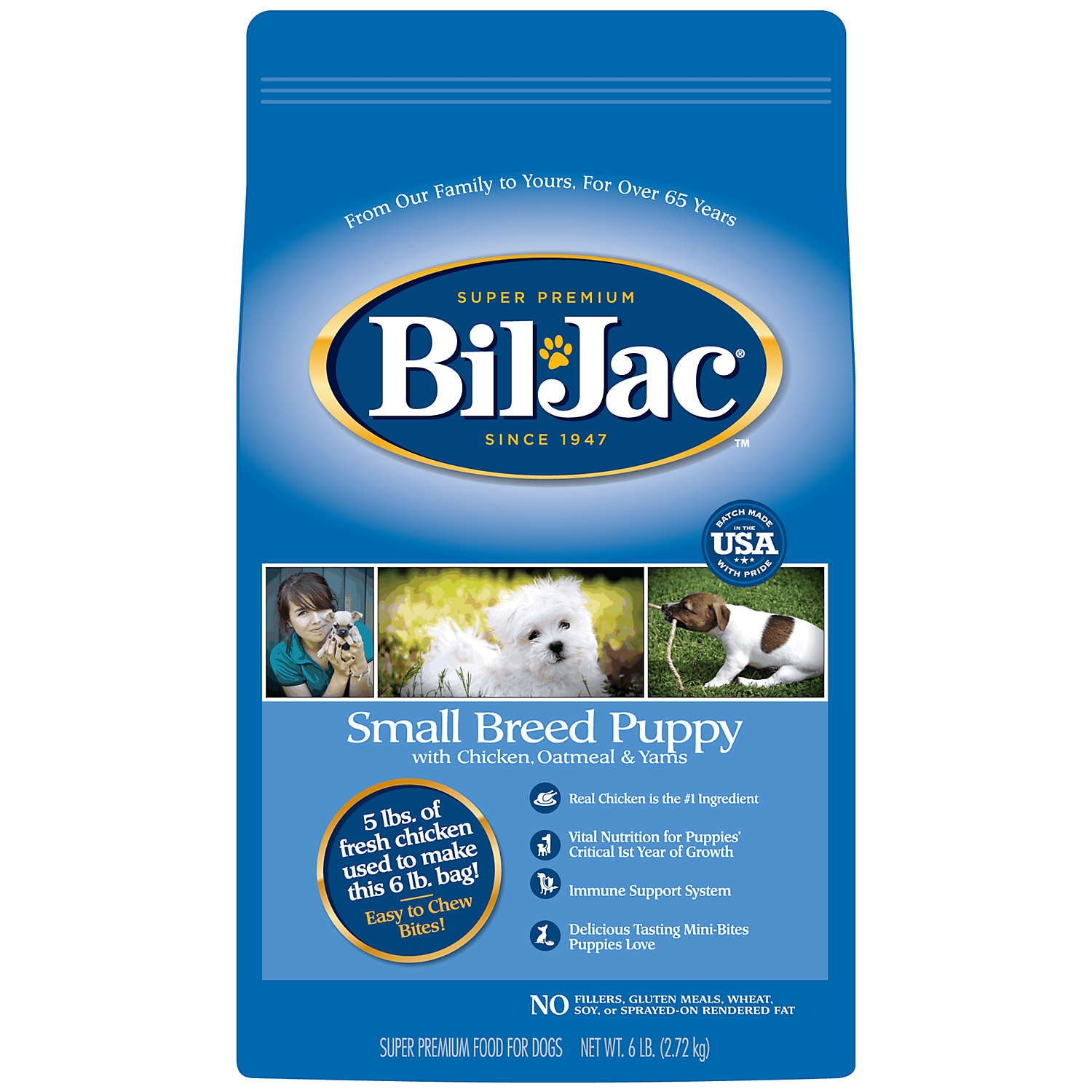 Bil Jac Small Breed Dry Puppy Food 6 Lbs.