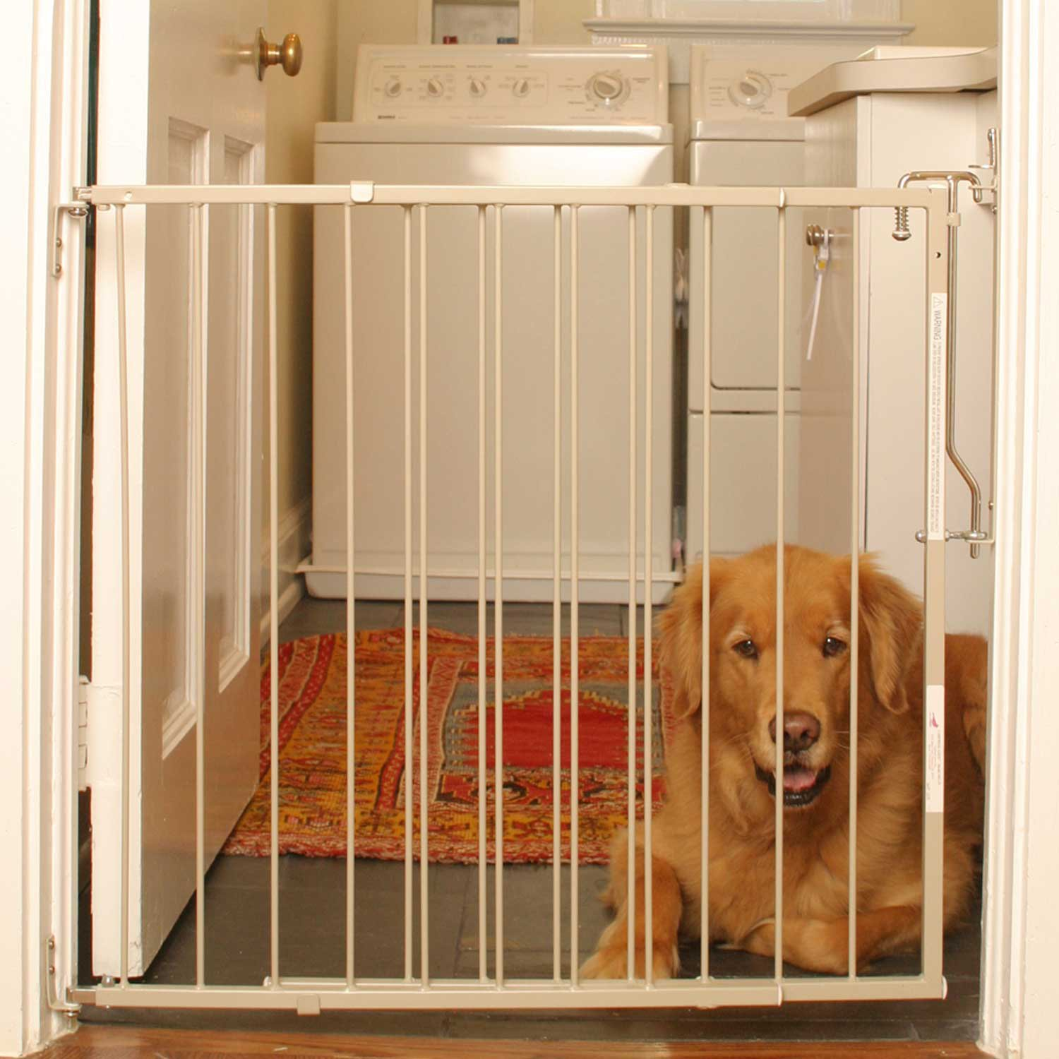 Cardinal Gates Taupe Duragate Pet Gate, 29.5 In, Off White