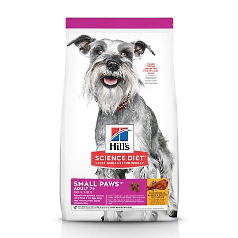 Hill's Science Diet Adult 7+ Small & Toy Breed Chicken Meal Rice & Barley Recipe Dry Dog Food