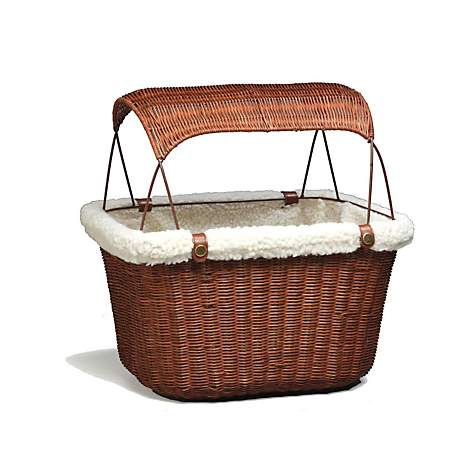 Solvit Tagalong Wicker Bicycle Basket for Dogs