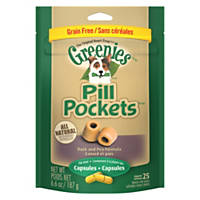 Greenies Allergy Formula Roasted Duck & Pea Pill Pockets Capsule Dog Treats