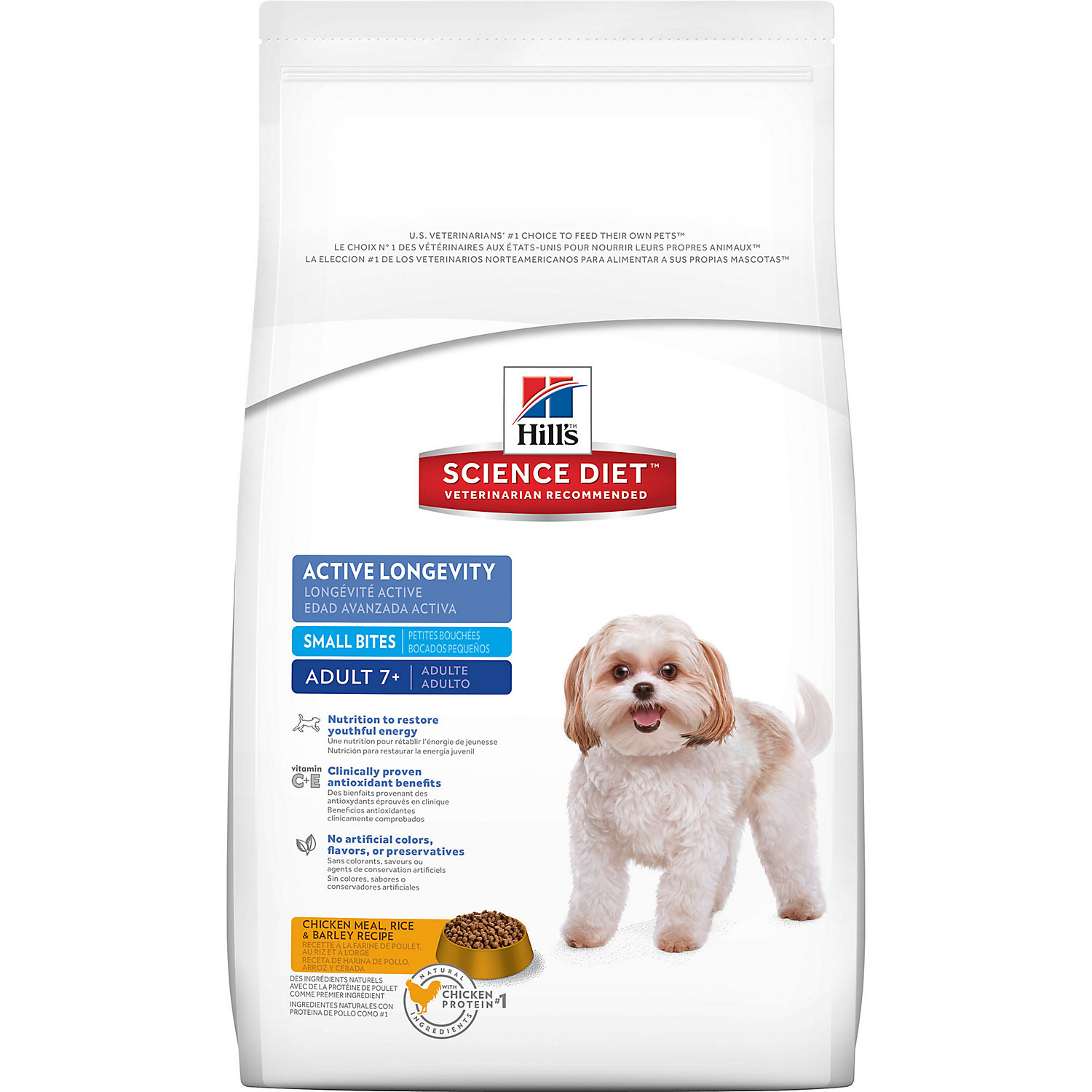 Hills Science Diet Active Longevity Small Bites Senior Dry Dog Food 5 Lbs. 5 Lb Bag