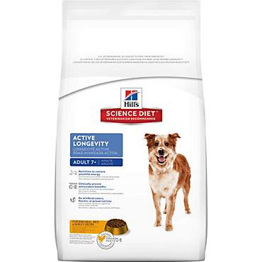 Hill's Science Diet Adult 7+ Active Longevity Chicken Meal Rice & Barley Recipe Dry Dog Food