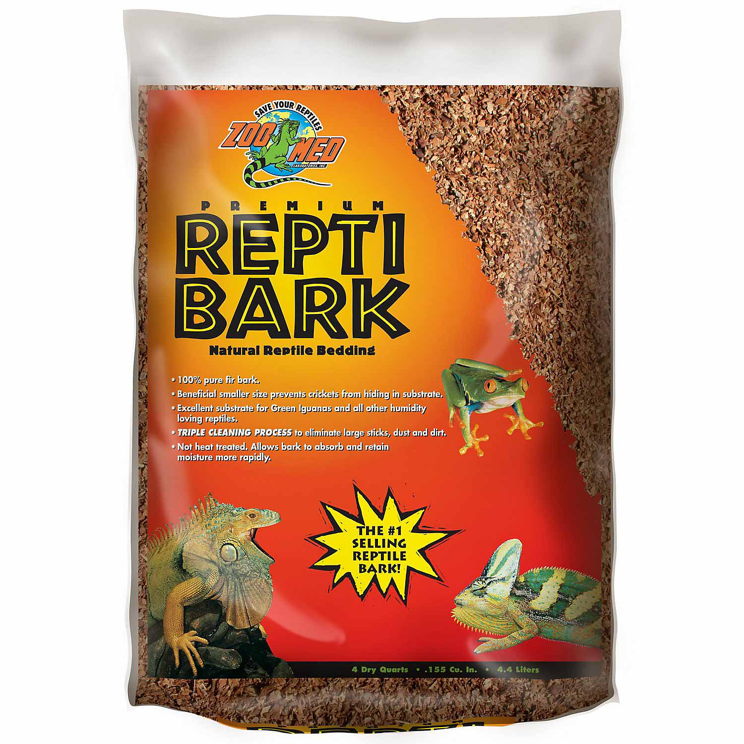 Zoo Med Reptibark Natural Reptile Bedding Size  Qt