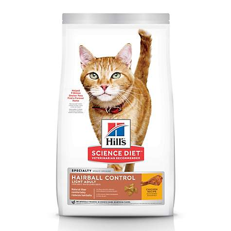 Hill's Science Diet Hairball Control Light Adult Dry Cat Food