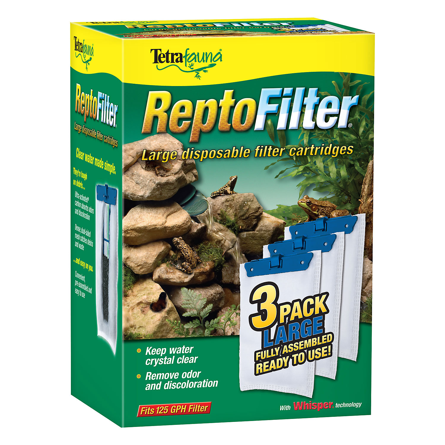 Tetra Reptofilter Disposable Filter Cartridges 3 Pack