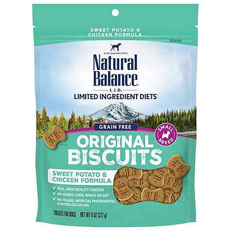 Natural Balance L I T  Limited Ingredient Treats Sweet Potato & Chicken  Formula Small Breed Dog Treats, 8 oz