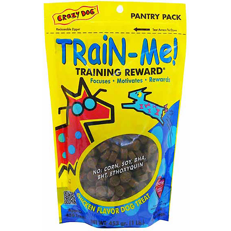 Crazy Dog Train Me Chicken Flavored Training Reward Dog Treats 16 Oz Bag