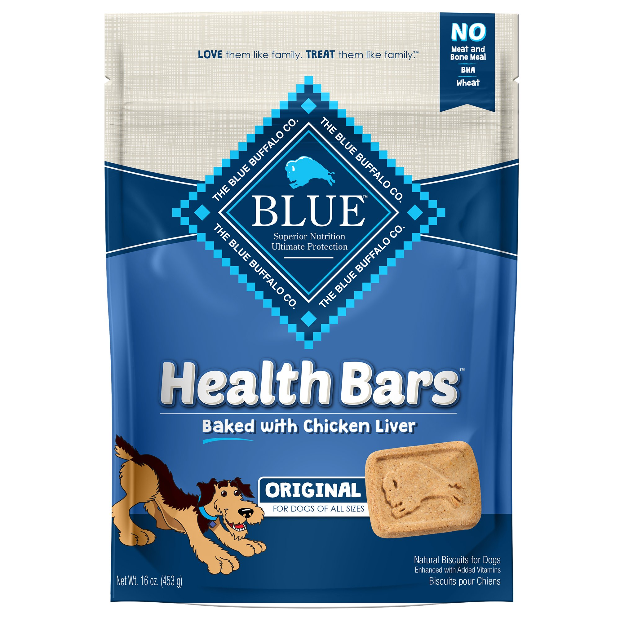 Blue Buffalo Blue Health Bars With Chicken Liver Dog