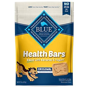 Blue Buffalo Blue Health Bars With Banana And Yogurt Dog Treats