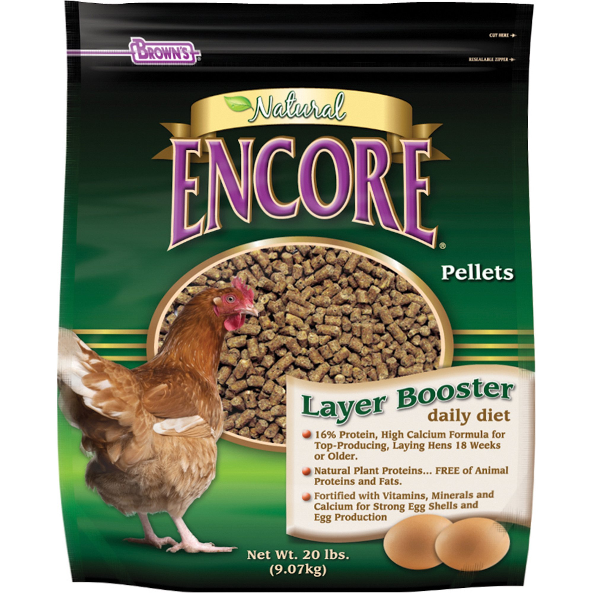 Brown's Layer Booster Daily Diet Chicken Feed
