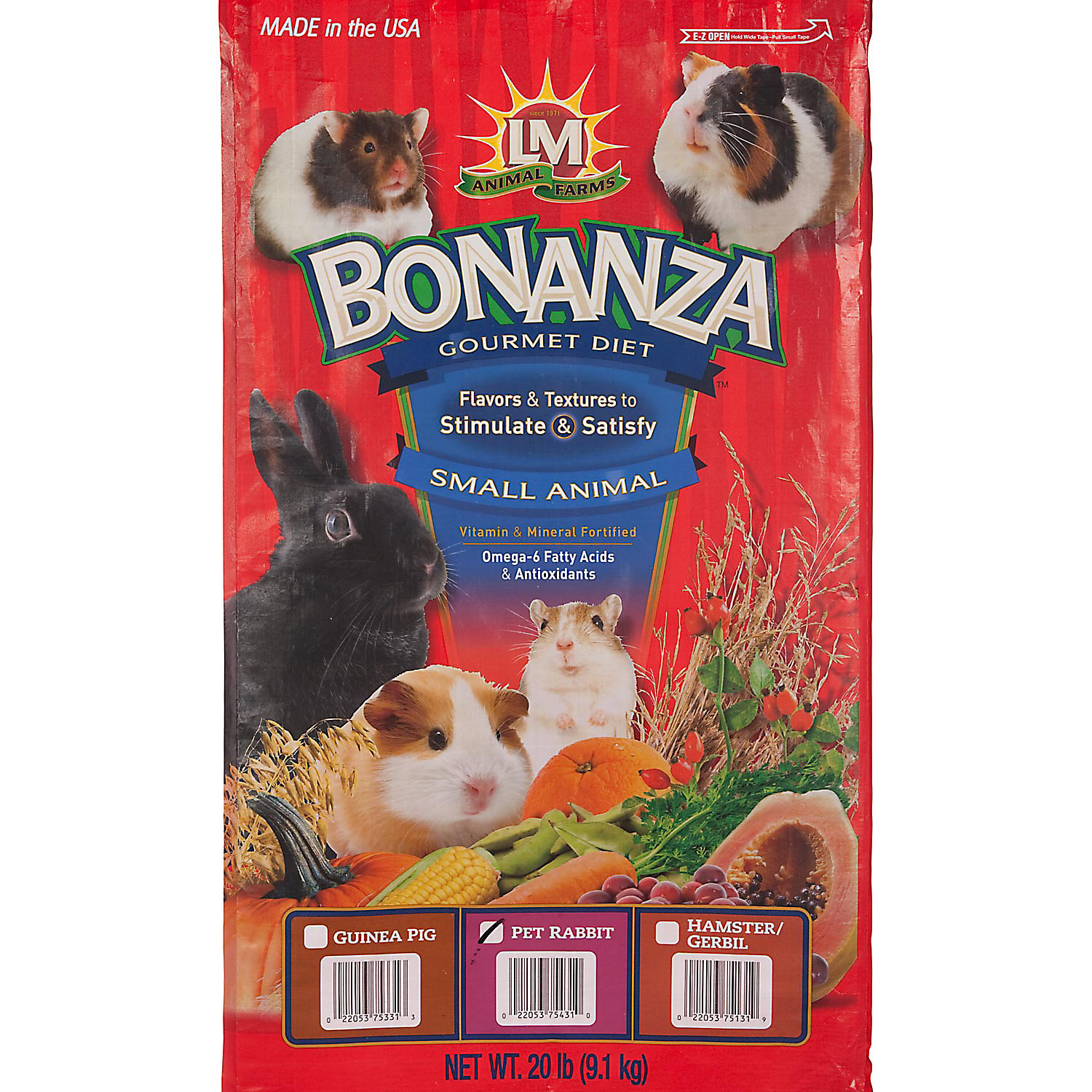 LM Animal Farms Bonanza Gourmet Diet Rabbit Food