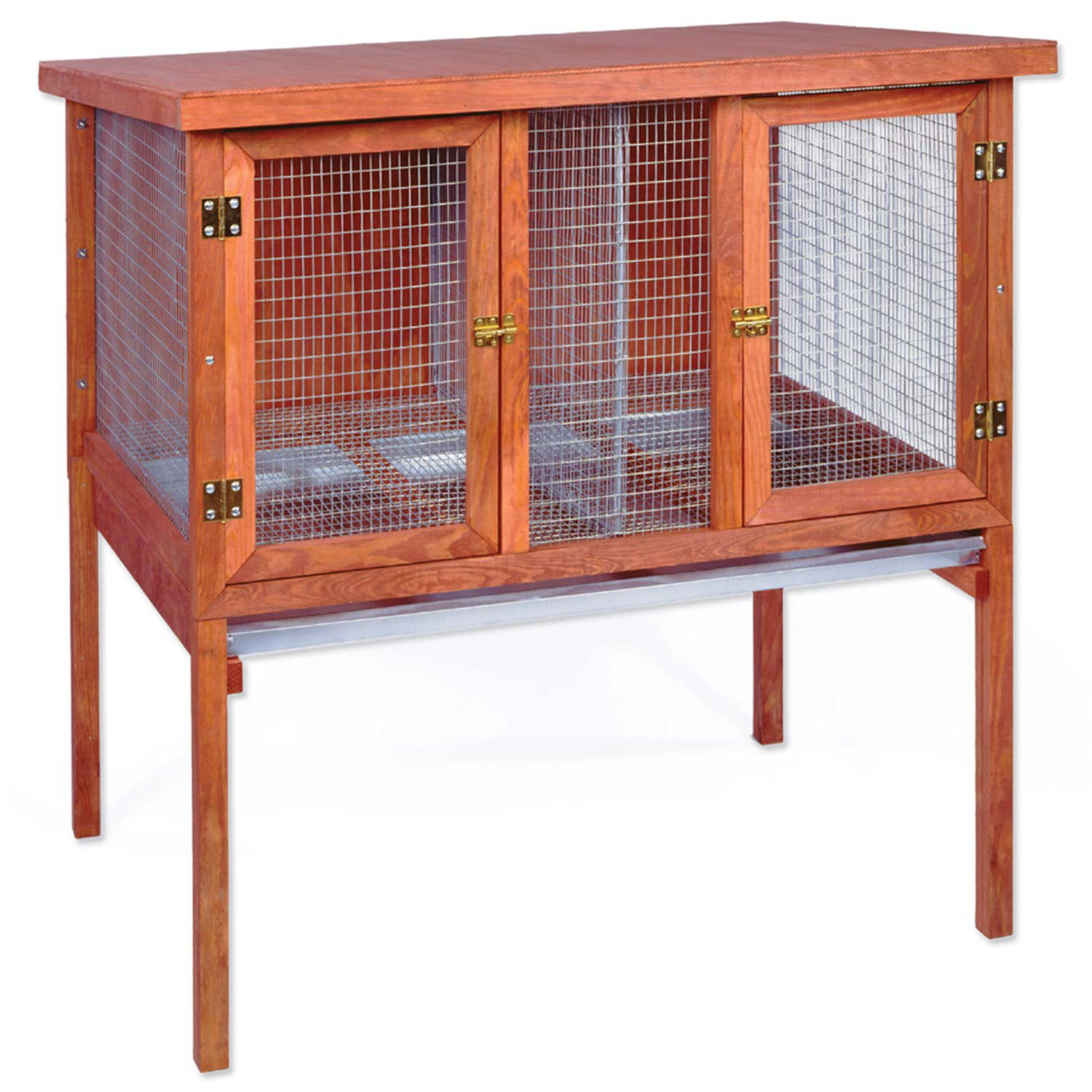 Ware hd double rabbit hutch petco for What is a rabbit hutch