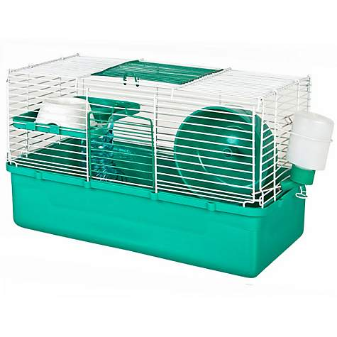WARE Home Sweet Home Teal 1 Story Hamster Cage