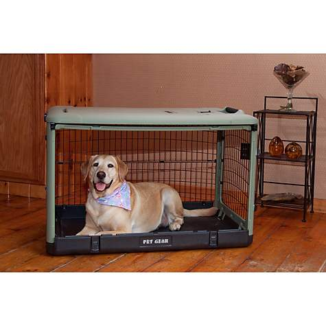 Pet Gear The Other Door Sage Steel Crate Petco