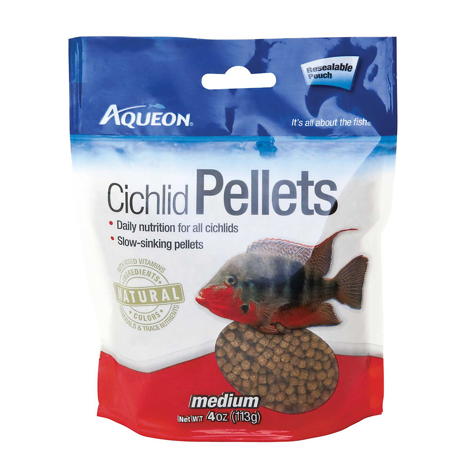 Aqueon Medium Pellet Cichlid Food 4 Oz.