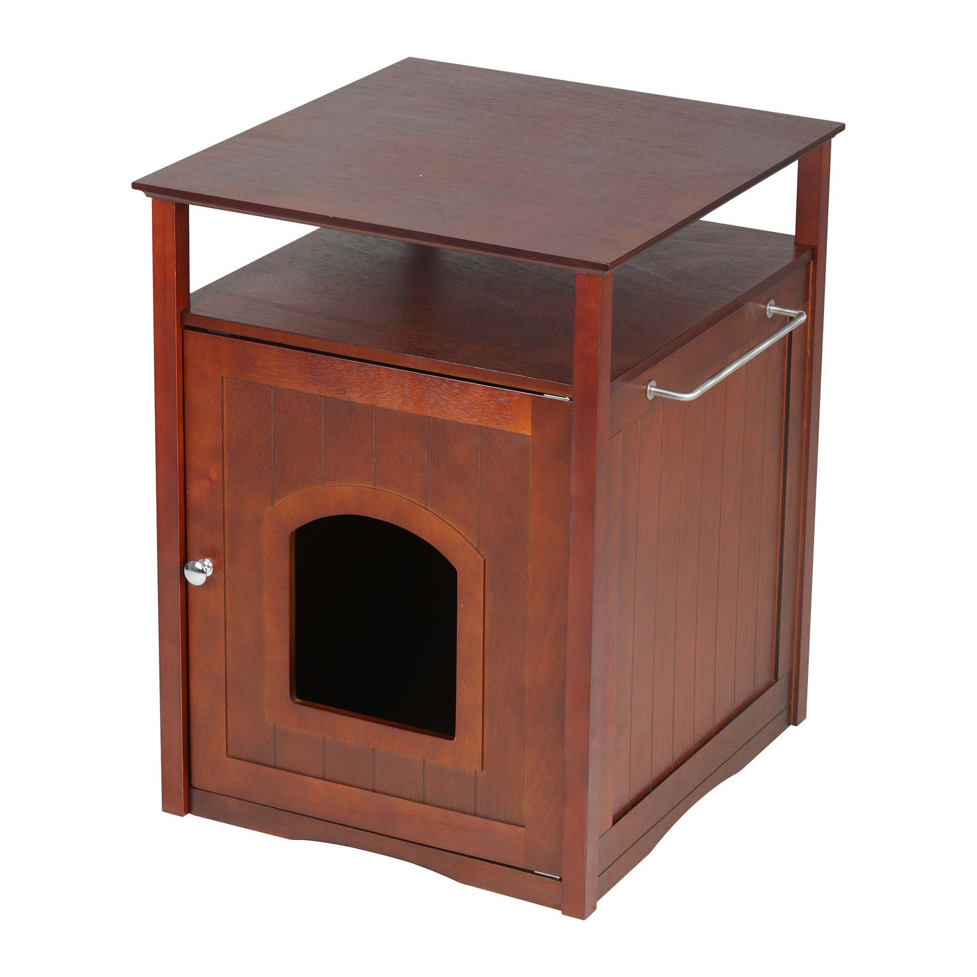 Merry Products Cat Washroom Night Stand U0026 Pet House In Walnut