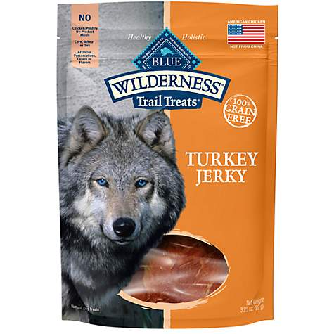 Blue Buffalo Blue Wilderness Trail Treats Turkey Jerky Dog Treats
