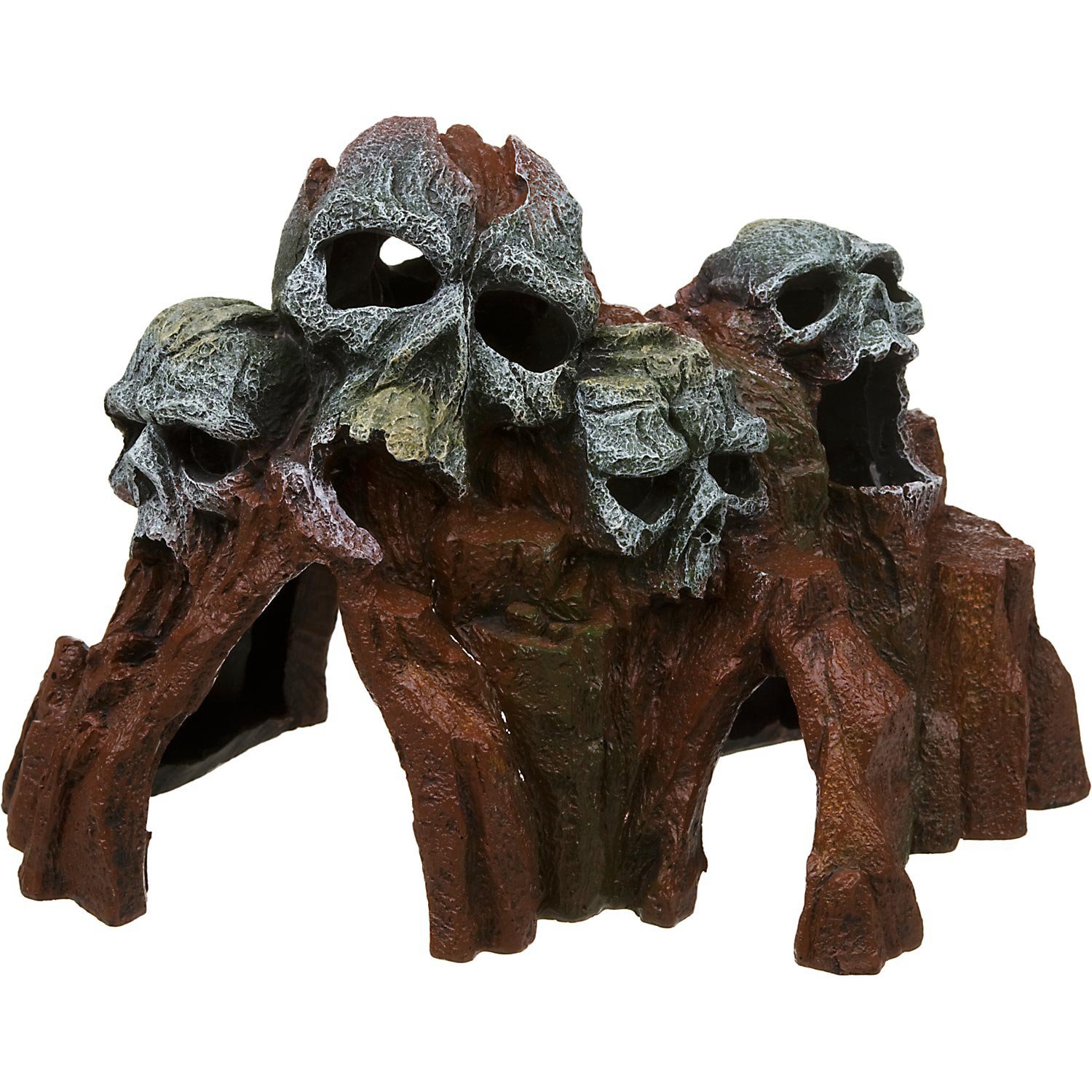 Blue ribbon skull mountain medium aquarium ornament petco for Aquarium decoration ornaments