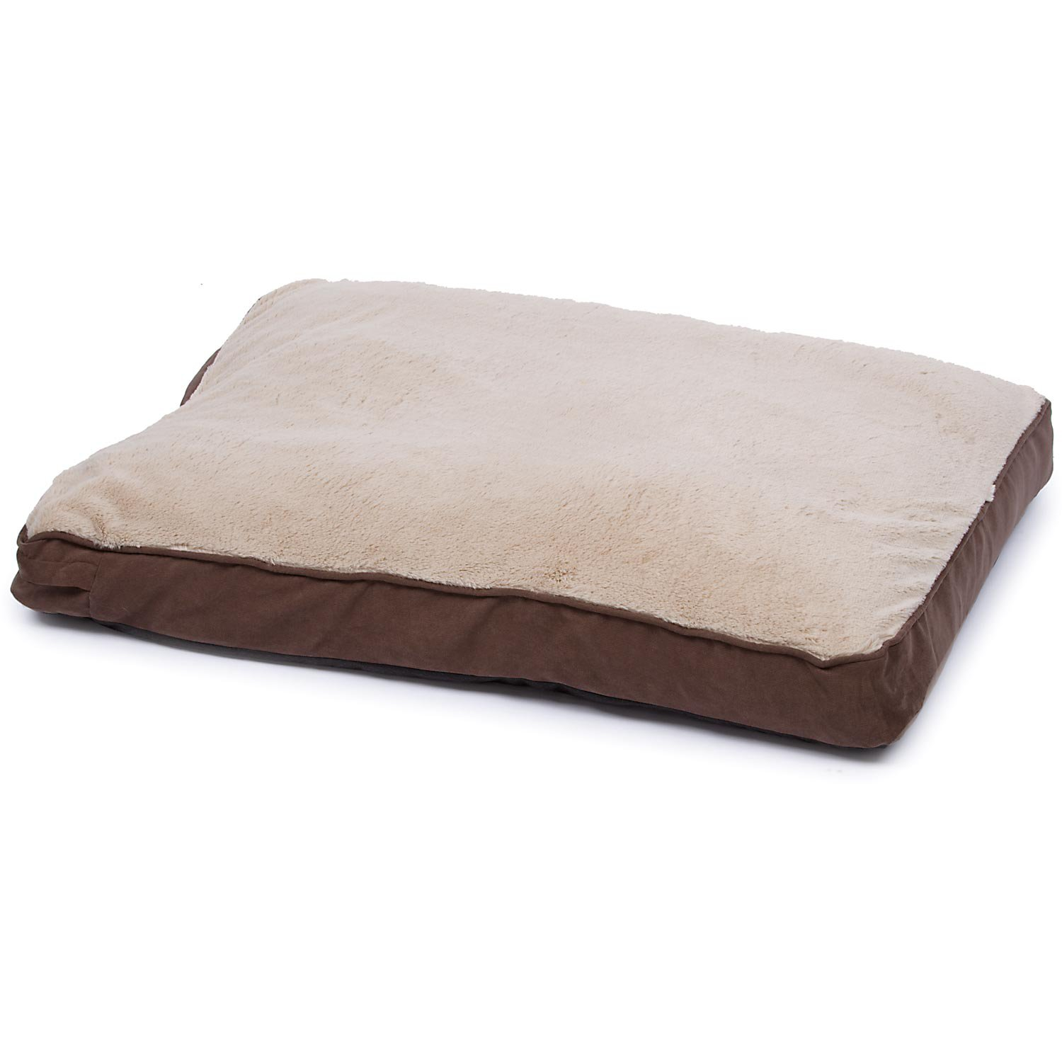 Small Bed Brown And Tan Memory Foam Rectangular Pillow Dog Bed Petco
