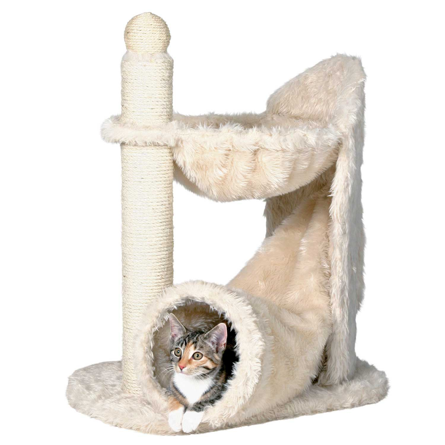 "Trixie Dreamworld Gandia Cat Tower, 26.75"" H, 15.5 In, Off White"
