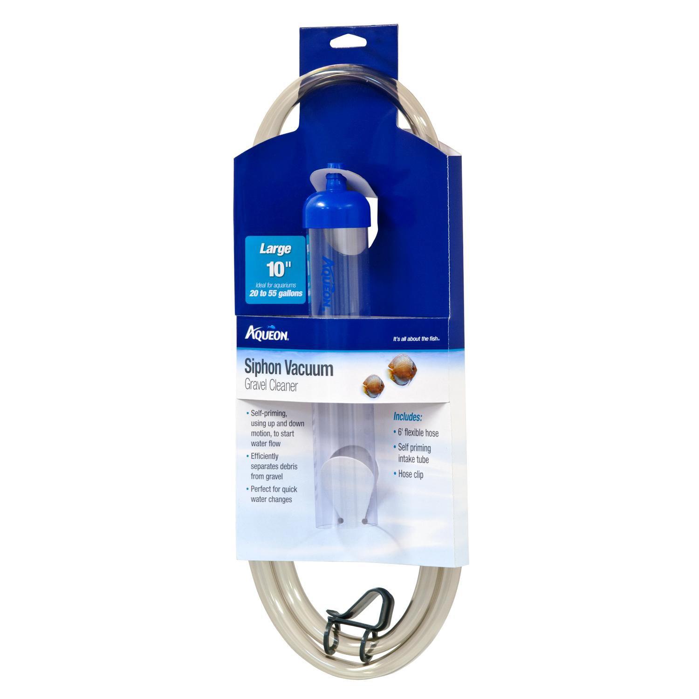 Aqueon siphon vacuum aquarium gravel cleaner 10 petco for Fish tank siphon