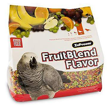 ZuPreem AvianMaintenance FruitBlend Premium Bird Diet for Medium & Large Birds