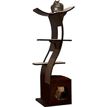 The Refined Feline Lotus Tower Cat Tree in Espresso