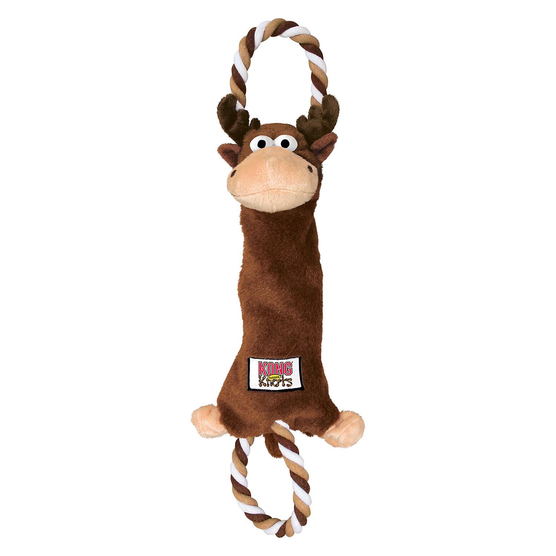 Kong Tugger Knots Moose Dog Tug Toy Large