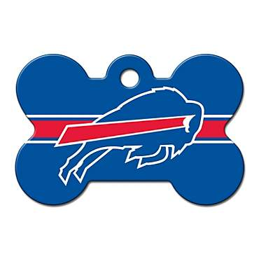 Quick-Tag Buffalo Bills NFL Bone Personalized Engraved Pet ID Tag, Large