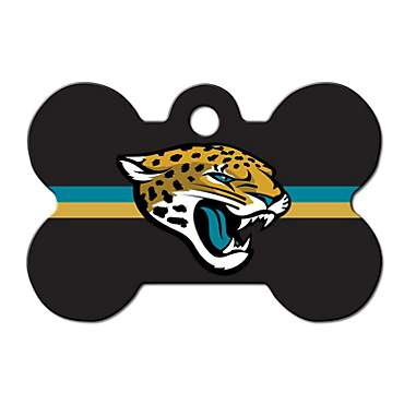 Quick-Tag Jacksonville Jaguars NFL Bone Personalized Engraved Pet ID Tag, Large