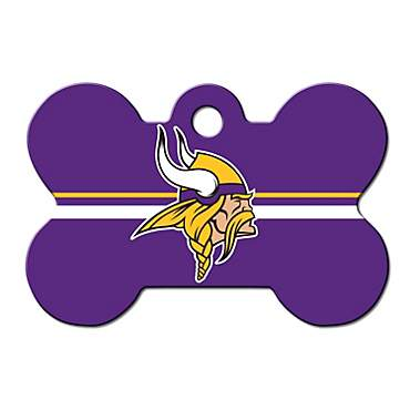 Quick-Tag Minnesota Vikings NFL Bone Personalized Engraved Pet ID Tag, Large