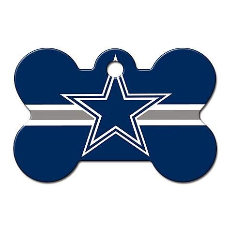 Quick-Tag Dallas Cowboys NFL Bone Personalized Engraved Pet ID Tag ... c4c696319