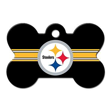 Quick-Tag Pittsburgh Steelers NFL Bone Personalized Engraved Pet ID Tag, Large