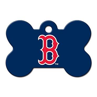 Quick-Tag Boston Red Sox MLB Bone Personalized Engraved Pet ID Tag, Large