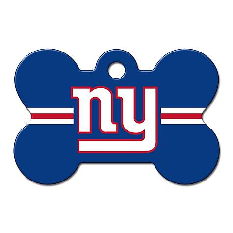1802fd24b Quick-Tag New York Giants NFL Bone Personalized Engraved Pet ID Tag ...