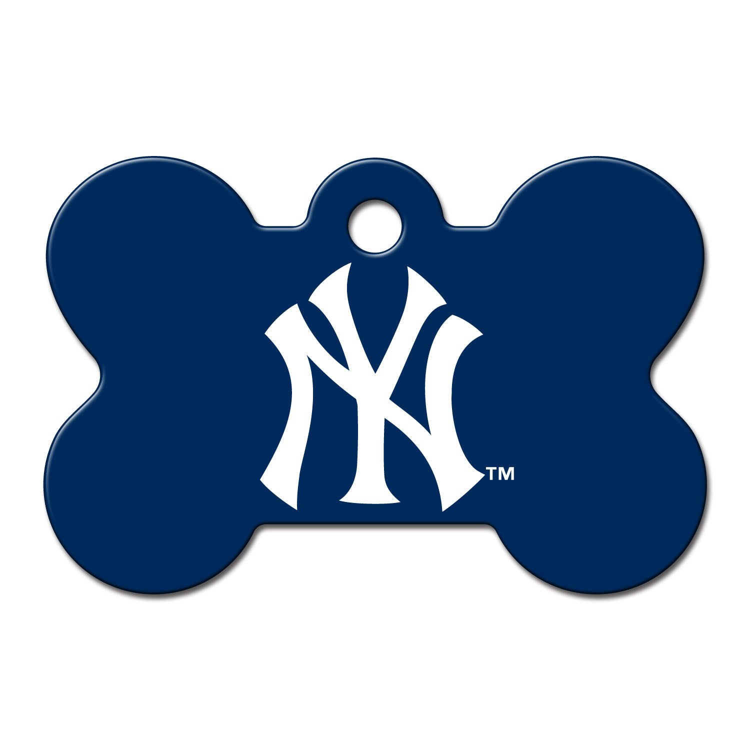 Quick tag new york yankees mlb bone personalized engraved for Fish tag nyc