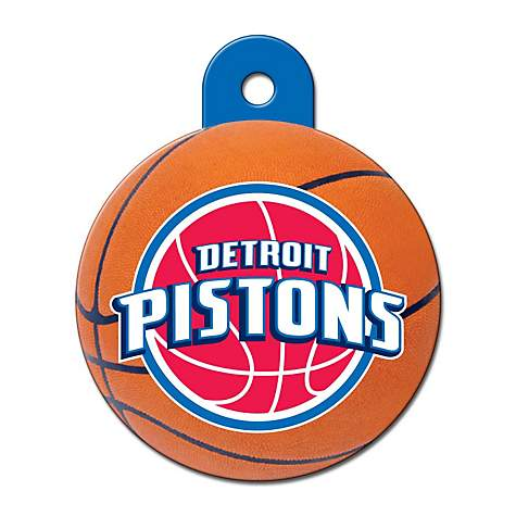 Quick-Tag Detroit Pistons NBA Circle Personalized Engraved Pet ID Tag, Large